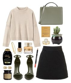 """Kukui"" by sophiehackett ❤ liked on Polyvore featuring Toast, Topshop, Mark Cross, Schutz, Organix, Givenchy, Max Factor, Dogeared, Gucci and A.P.C."