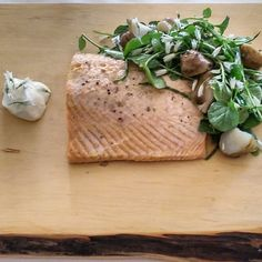 Miso Baked Huon Salmon, Jerusalem Artichoke Salad, Crème Fraiche