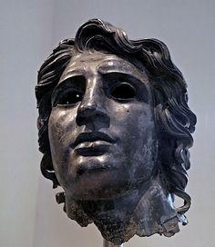 Alexander the Great. Bronze head, ca. 150 BCE - 138. Metropolitan Museum of Art