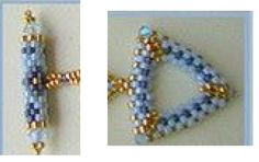 Triangular toggle clasp #Seed #Bead #Tutorials