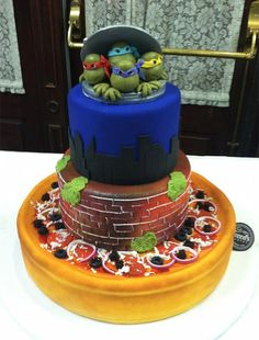 The most awesome thing I've seen today. (Sorry skydiving cats.) --> TMNT Wedding Cake