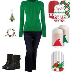 Christmas Nails For Beautiful Holiday Fashion Christmas Nails, Christmas 2015, Holiday Nails, Jamberry Christmas, Green Christmas, Christmas Crafts, Casual Holiday Outfits, Bridal Nail Art, Wedding Manicure