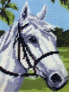Anchor Starter Tapestry/Needlepoint Kit – Horse - - Atlascraft in Crafts, Tapestry & Needlepoint, Kits Cross Stitch Bookmarks, Cross Stitch Alphabet, Cross Stitch Embroidery, Cross Stitch Horse, Cross Stitch Animals, Cross Stitch Patterns Free Easy, Cross Stitch Cushion, Tapestry Kits, Horse Pattern