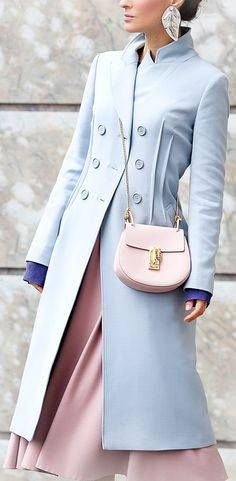 chloe drew bag | serenity coat | pastel colors outfit | spring outfit ideas | galant girl | ellena galant