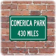 "Personalized  Comerica Park Highway Distance Sign (12"" x 8""). $19.95, via Etsy."