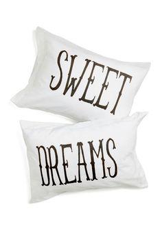 Rockabye Lady Pillowcase Set - Cotton, White, Black, Dorm Decor, Good, Top Rated, Wedding