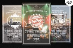 Vintage Vol.2 PSD Flyer Template by WG-VISUALARTS on Creative Market