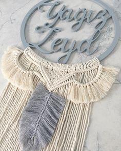 Baby Dekor, Macrame Wall Hanging Diy, Diy And Crafts, Paper Crafts, Boho Diy, Pattern Fashion, Fiber Art, Dream Catcher, Weaving