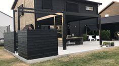Swedish House, Outdoor Living, Outdoor Decor, Kingston, Farmhouse Style, Fence, Pergola, Garage Doors, Colours