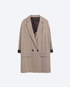 Image 8 of LONG OVERSIZED JACKET from Zara