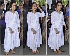 Designer_salwar_kameez (4) White Anarkali, Anarkali Suits, Salwar Kameez, Kurti, Ethnic Dress, Neck Pattern, Ethnic Fashion, Lehenga Choli, Wedding Styles