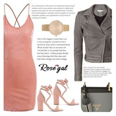 """Rosegal 79"" by nejra-l ❤ liked on Polyvore featuring IRO, Raye, Prada, Summer, dress, promotion and rosegal"