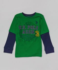 Another great find on #zulily! Green 'Quality & Tradition' Layered Tee - Toddler & Boys #zulilyfinds