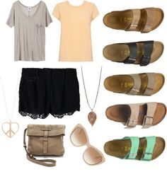 how to wear the #birkenstock arizona sandal - #outfit inspiration