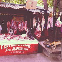 Expendio de carne...camino a Riohacha.