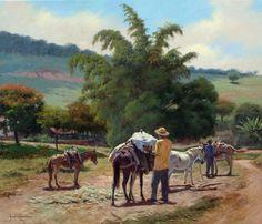 JOSÉ ROSÁRIO - CARGUEIROS Óleo sobre tela - 50 x 60 - 2011