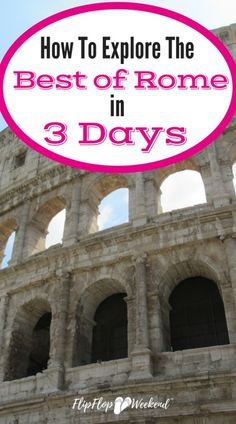 Planning a Roman holiday with limited time? This 3 day Itinerary will guide you through the best things to do in Rome in 3 days. Travel Usa, Travel Tips, Italy Travel, Rome Travel, Travel Europe, Hawaii Travel, Travel Luggage, Travel Guides, Travel Destinations
