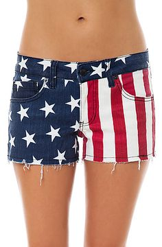 Love these American Flag shorts. They are adorable and will bring lots of attention America's most popular festival :)    Cult by Lip Service Shorts Dirty Boyfriend in Stars & Stripes : Miss KL    #MissKL #MissKLCoachella #thisisalovesong