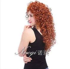 LMRA556  vogue fashion Cosplay Orange long curly hair wigs for women wig #Unbranded