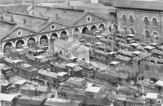 The Locomotive Sheds at Brighton Station. Brighton And Hove, Brighton Rock, Brighton Sussex, Brighton And Hove, Old Photos, Vintage Photos, Southern Railways, Steam Railway, Ticket To Ride, Great Western