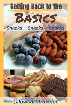 These simple low carb snack ideas will help you get back to the basics. They are healthy and fast to put together. Whether it's a sweet and salty low carb snack or a snack sandwich with cucumber slices and salami, there is something for everyone. Low Carb Keto, Low Carb Recipes, Snack Recipes, Group Meals, Group Recipes, Low Carb Breakfast Easy, Sugar Free Chocolate, Mixed Nuts, Weight Loss Snacks