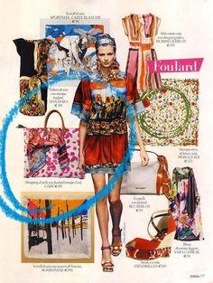 Gabsin värikäs nahkalaukku kuvattiin huivin kera italialaisen Gioia -lehden kesäkuun numeroon.