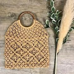 Farrah Crochet Shopper Bag in Straw Leather Tooling, Leather Clutch, Boho Bags, Shopper Bag, Vintage Leather, Straw Bag, Purses And Bags, Knitting, Crochet