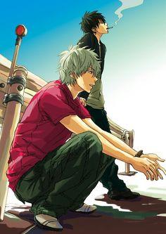 Gintama- Gin-san & Hijikata#anime #illustration