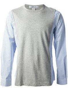 COMME DES GARÇONS SHIRT Contrast Sleeve Shirt