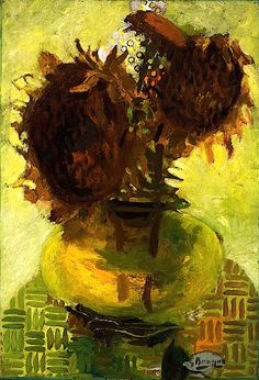 Sunflowers at Choisel / Georges Braque - 1946