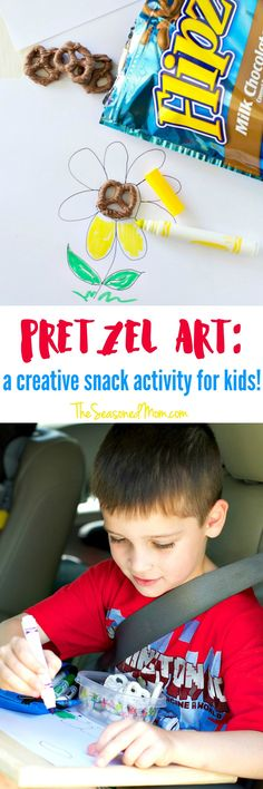 Transform an ordinary afternoon into an extraordinary adventure with a delicious Snack Activity for Kids! This simple Pretzel Art is an easy (and delicious) way to entertain the little ones! #ROADTRIPFLIPZ #ad @Flipz