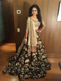 Indian Lehenga Choli Designs For Wedding Brown outfit Indian Bridal Wear, Indian Wedding Outfits, Indian Outfits, Lehenga Designs, Choli Designs, Indian Attire, Indian Ethnic Wear, Bridal Lehenga, Lehenga Choli