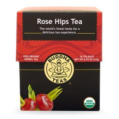 Buddha Teas Rose Hips Tea, 18 Count (Pack of 6) * Find out more details by clicking the image : Fresh Groceries