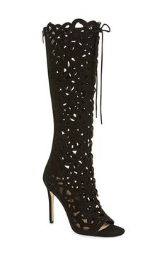 Via Spiga 'Tressa' Peep Toe Boot (Women)