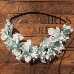 Mint flower crown / baby flower crown / infant crown / flowergirl / bridesmaid / flower crown / mint flowers
