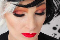 Cruella de Vil makeup | 101 dalmatians | 101 dalmatas | glenn close makeup