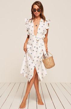 Serengeti dress// #print #dress #MaxiDress #ruffle #fashion #style #stylish #RefBabe #reformation Size 2