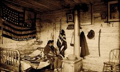 Katana sword in Chief Red Cloud's Cabin, 1890