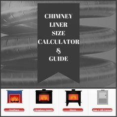 ... chimney safety! Choosing the correct size chimney liner starts here. #