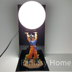 Lights & Lighting Dragon Ball Lamp Led Dragon Ball Z Son Goku Figures Night Light Dragon Ball Super Goku Genki Dmaspirit Bomb Table Lamp Bulb Dbz Making Things Convenient For The People Led Lamps