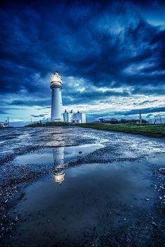 Flamborough Lighthouse, North Yorkshire, England