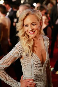 Carrie Bickmore shone on the red carpet at the Annual Logie Awards in her Paolo Sebastian gown and elegant undone waves. Red Carpet Hair, Shy Girls, Old Hollywood Glamour, Wedding Beauty, Girls Dream, Bridesmaid Hair, Red Hair, Bridal Hair, Carry On
