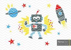"""Plotterdatei+""""Space+Robot""""+DIY+Plotter+Vorlage+von+Nina3er+Design+auf+DaWanda.com"""