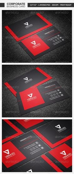Modern Corporate Business Card #graphicriver
