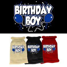 Birthday Boy Screen Print Knit Dog Sweater