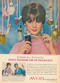 Vintage Avon ad  Old Bottles  Looking back  http://marshahamner.avonrepresentative.com/
