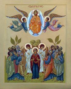 The Ascension - Georgian contemporary icon