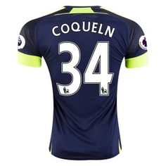 Arsenal FC Third 16-17 Season Soccer Shirt #34 COQUELIN Jersey [G338]