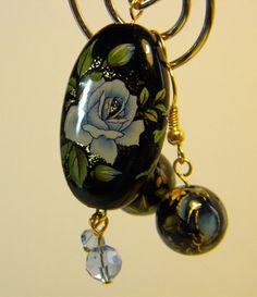 Beautiful Japanses Tensha Bead Pendant by PrayerfullyMade4You, $29.99