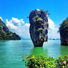James Bond Island, Thailand...lol and on a side note. No man is an island....except James Bond ;-) He can stand alone.
